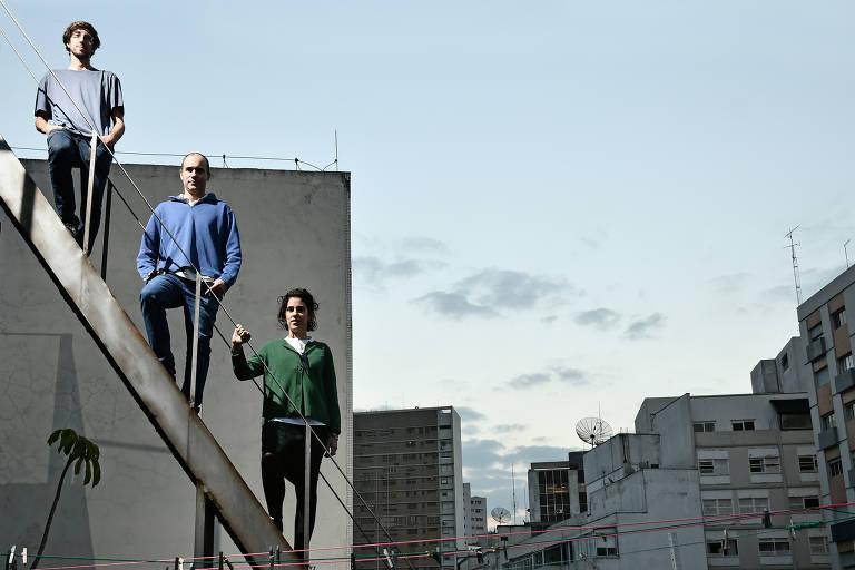 O trio de irmãos Nitsche, donos do escritório Nitsche Arquitetos