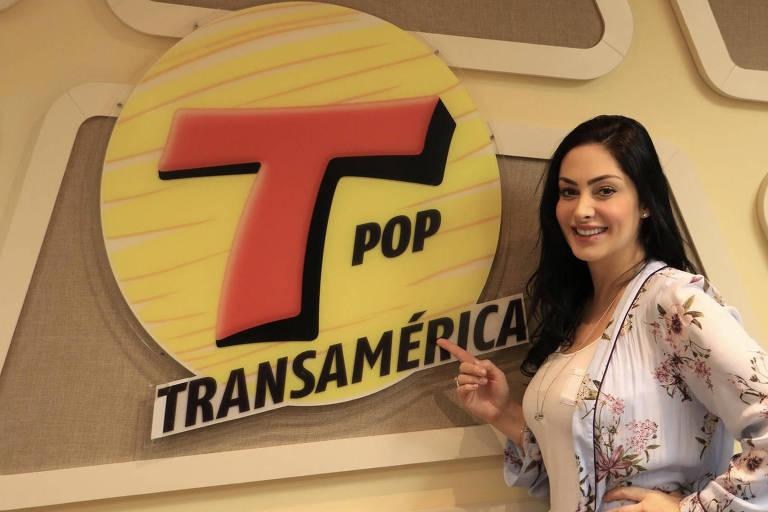 A repórter gaúcha Francine Piaia, agora apresentadora da Transamérica