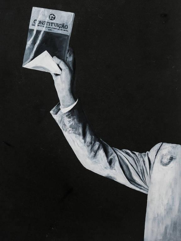 braço ergue a constituição