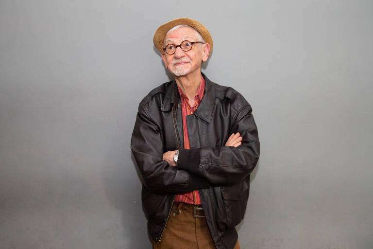 """O escritor João Silvério Trevisan, de 74 anos, no lançamento do livro """"Devassos no Paraíso"""", na Casa Baixo Augusta, em São Paulo"""