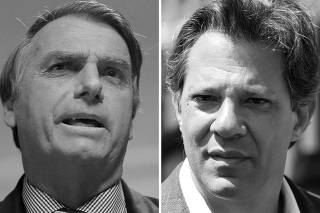 FILE PHOTO: A combination photo shows presidential candidates Bolsonaro and Haddad