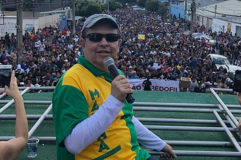 Apóstolo Cesar Augusto Machado de Souza em evento religioso