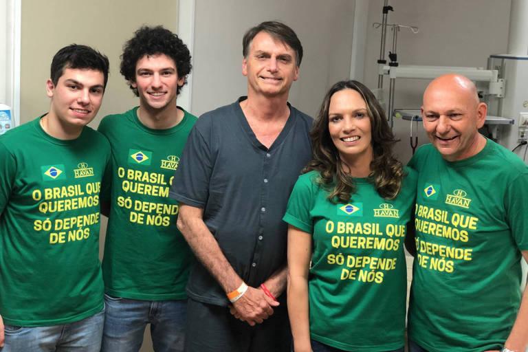 Empresário catarinense dono da Havan, Luciano Hang e sua família visitam Jair Bolsonaro