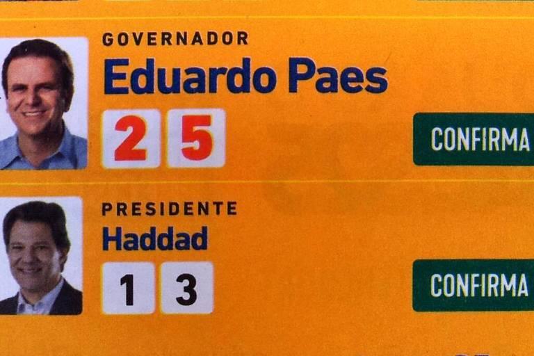 Folheto - Eduardo Paes e Fernando Haddad - Maricá