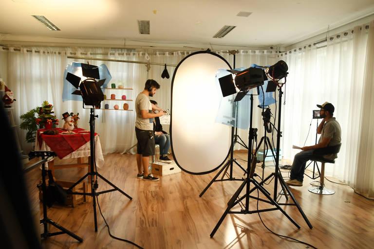 Estúdios de gravação da Eduk, que oferece cursos em vídeo para mais de 100 mil assinantes digitais
