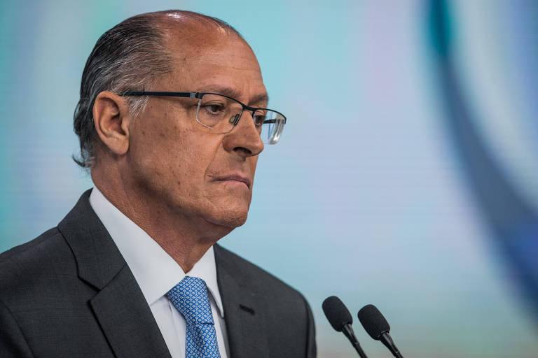 O candidato à Presidência Geraldo Alckmin (PSDB) durante debate