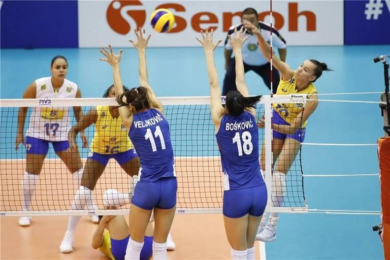 Brasil perde para a Sérvia em primeiro teste real no Mundial ... 67948a6801b57