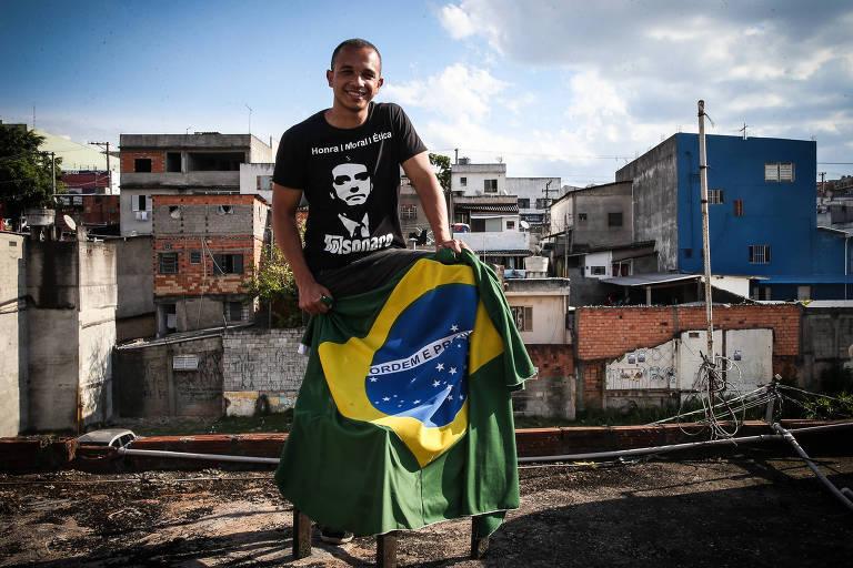 Douglas Garcia, 24, cofundador do Direita São Paulo e morador da favela de Americanópolis, periferia de SP