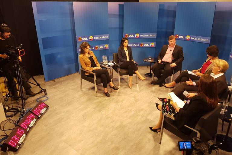 Debate Folha, UOL, SBT com candidatas a vice