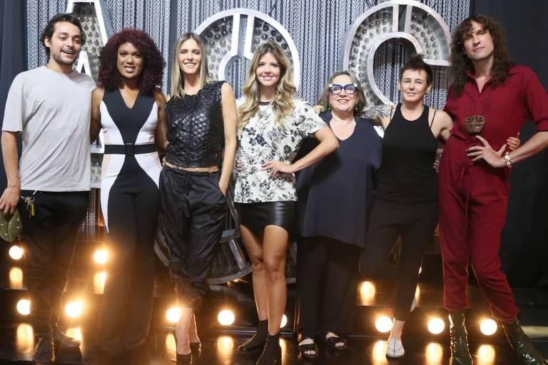 Fernanda Lima e equipe do Amor e Sexo no lançamento do programa, que volta no próximo dia 9