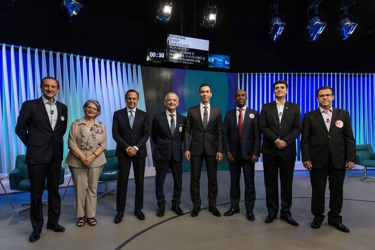 Debate com candidatos ao governo de São Paulo na Globo