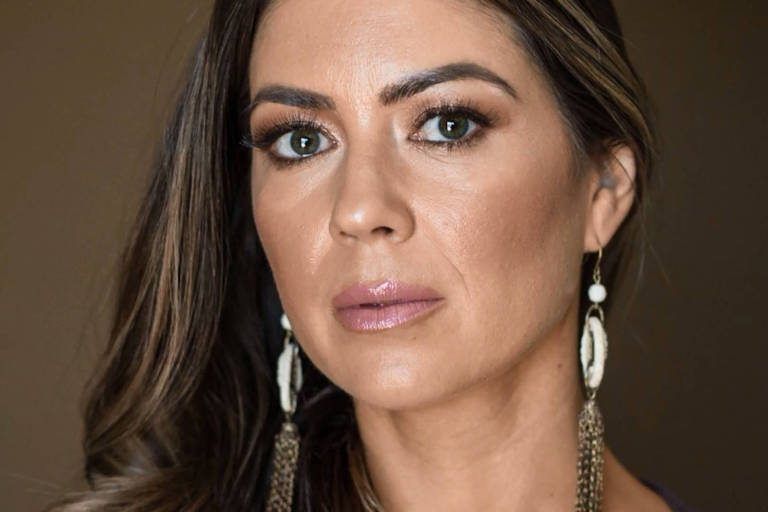 A americana Kathryn Mayorga, que acusa Cristiano Ronaldo de estupro