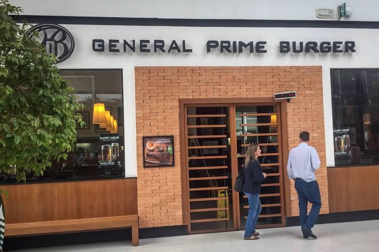 Fachada do restaurante General Prime Burger, do JK Iguatemi, que permaneceu fechado nesta quarta (3) após incidente