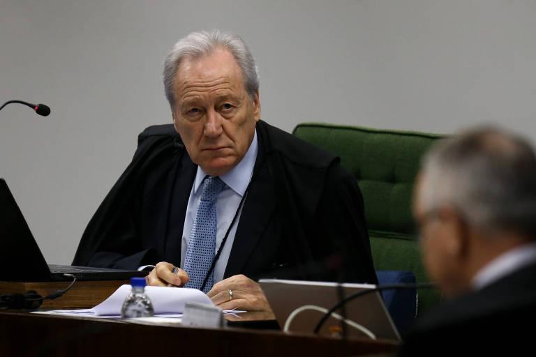 O ministro do STF Ricardo Lewandowski durante sessão da 1ª Turma do Tribunal na tarde desta terça (2)