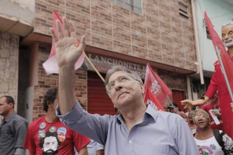 Candidato à reeleição pelo PT ao governo de Minas, Fernando Pimentel