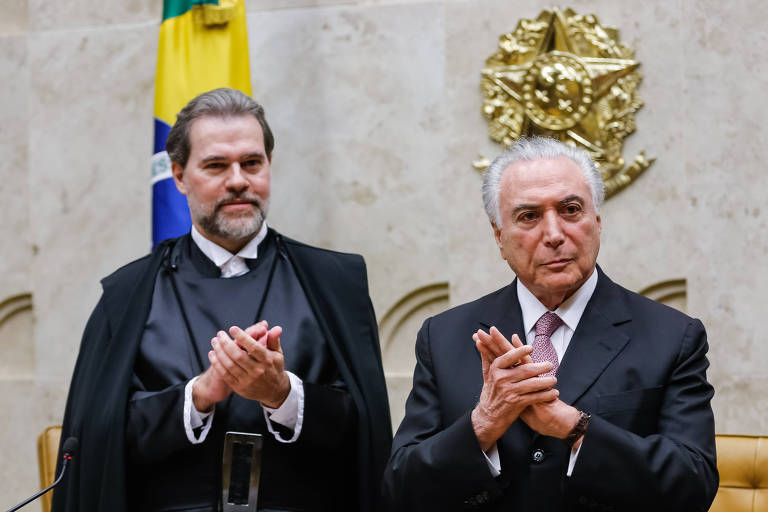 Presidente da República, Michel Temer e o presidente do Supremo Tribunal Federal, Ministro Dias Toffoli