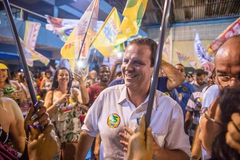 O candidato Eduardo Paes