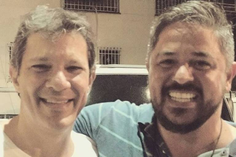 Fernando Haddad (PT) e Otávio Antunes, marqueteiro do PT