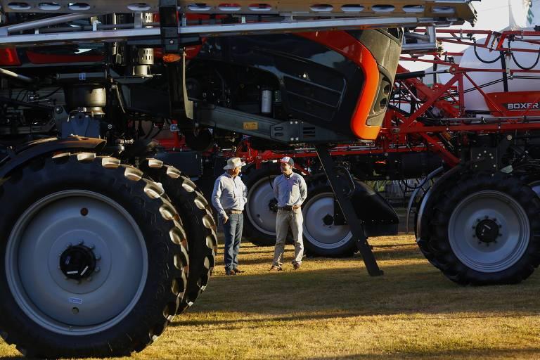 Máquinas agrícolas na Agrishow, em Ribeirão Preto (SP)