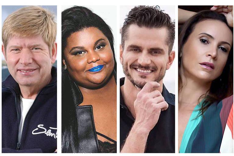 Candidatos famosos - Roberto Leal, Mc Carol, Marcos Harter e Maurren Maggi