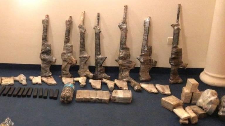 Armamento apreendido com criminosos que resgatariam chefe do CV no Paraguai