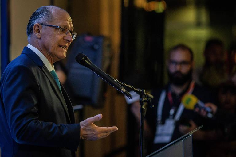Geraldo Alckmin na campanha de 2018
