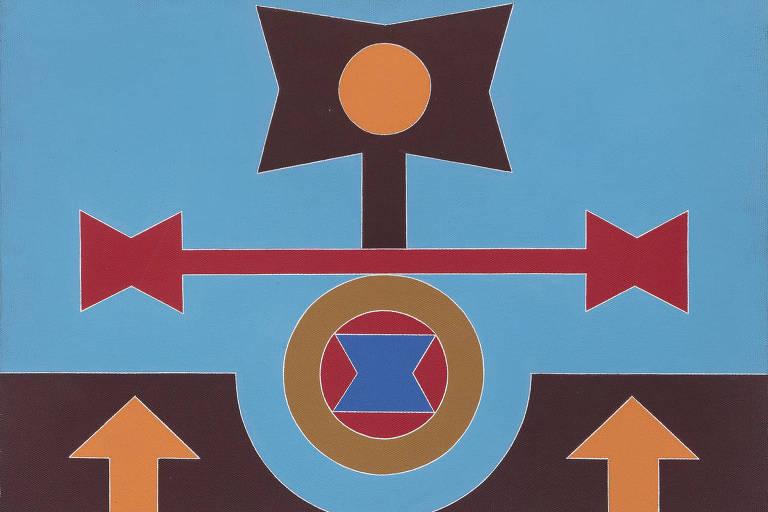 Variação 1 (1987). Acrílica sobre tela de Rubem Valentim