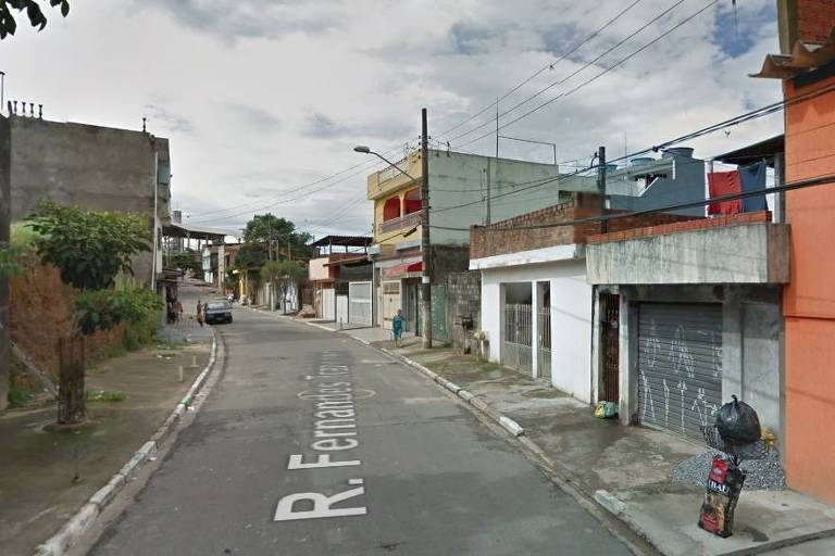 Rua Fernandes Trancoso, no Jardim Guarujá (zona sul de SP)
