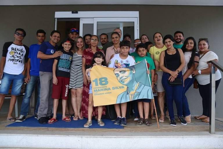 Marina Silva (Rede) encerra campanha eleitoral em Rio Branco, no Acre