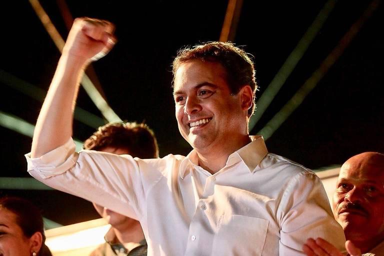 O governador de Pernambuco, Paulo Câmara (PDB), durante ato de campanha
