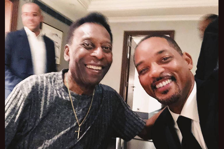Pelé abraça Will Smith