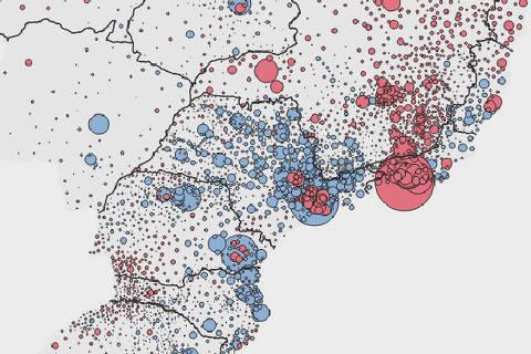 Mapa do histórico de votação