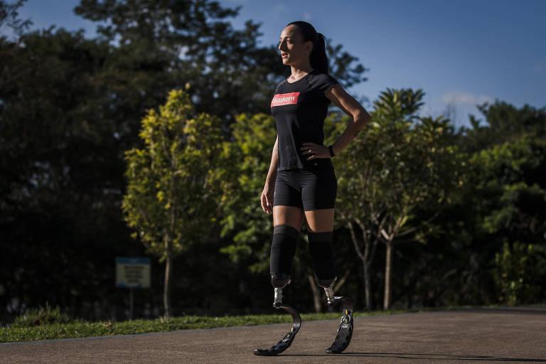 Adriele Silva, que teve pés amputados após sepse e virou atleta