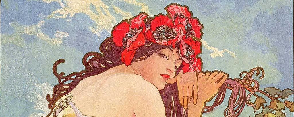 As Estações - O Verão%2c parte de série de 4 painéis decorativos - 1896 - crédito Fundação Mucha%2c Praga (1)