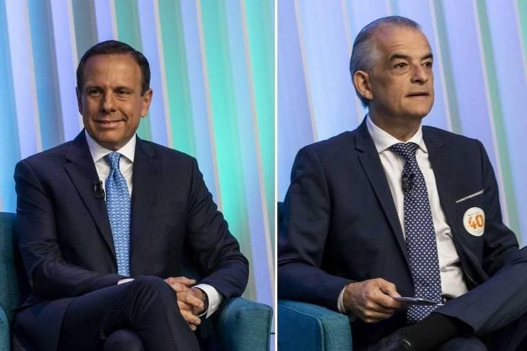 Doria e França em debate na Globo