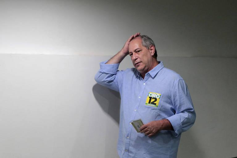 Ciro Gomes (PDT), que anunciou apoio crítico a Fernando Haddad (PT) no 2º turno