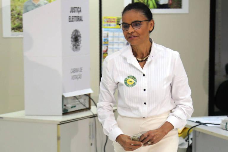 Marina Silva vota em Rio Branco, no Acre