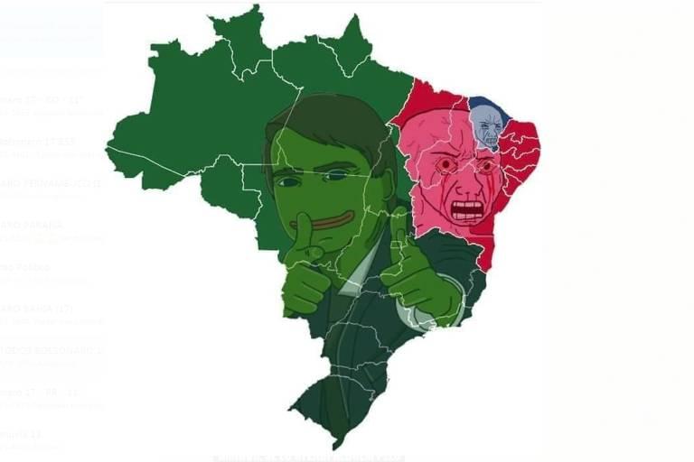 Publicações de grupos petistas e pró-Bolsonaro em grupo de Whatsapp
