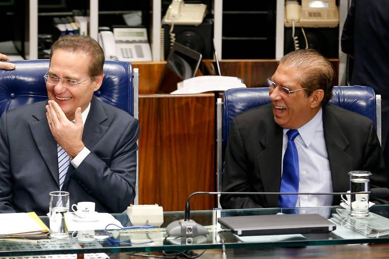 Romero Jucá, que não se reelegeu, Renan Calheiros e Jader Barbalho