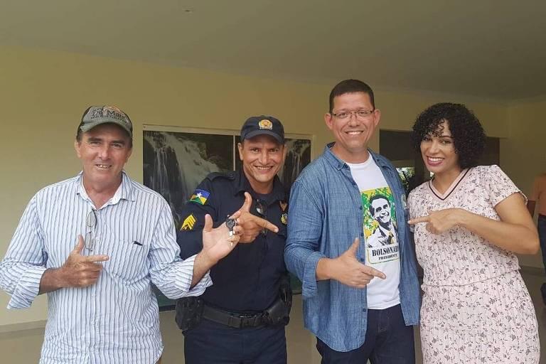 coronel marcos rocha, candidato do PSL ao governo de Rondônia, em foto postada no Facebook