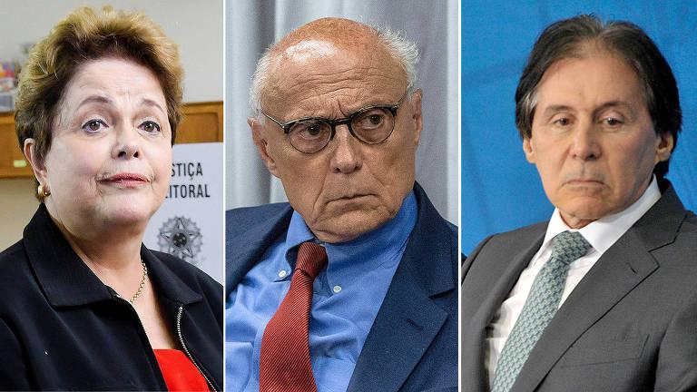 Dilma Rousseff, Eduardo Suplicy e Eunício Oliveira