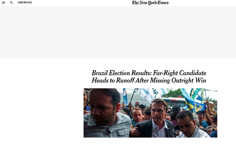 Eleições presidenciais do Brasil na imprensa internacional