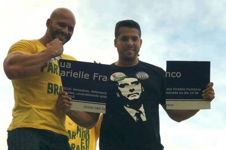 Placa em homenagem à Marielle Franco é rasgada por Rodrigo Amorim