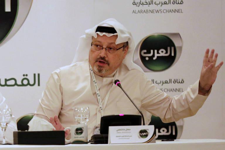Foto de dezembro de 2014 mostra o jornalista saudita Jamal Khashoggi quando era diretor do canal New Arabic News