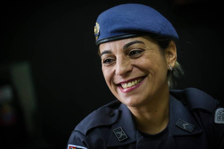 A cabo Katia Sastre (PR-SP), a Policial Militar que matou um bandido na porta da escola da filha