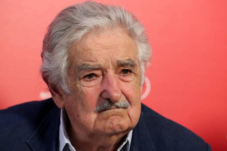 O ex-presidente uruguaii José Mujica durante entrevista em Veneza, na Itália