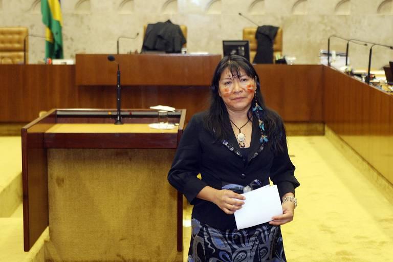 A advogada Joênia Wapichana (Rede) foi eleita deputada federal por Roraima e é a primeira indígena a assumir uma cadeira na Câmara