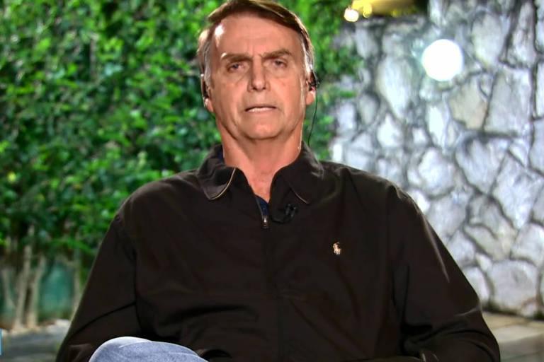 O candidato do PSL, Jair Bolsonaro concede entrevista no Jornal nacional