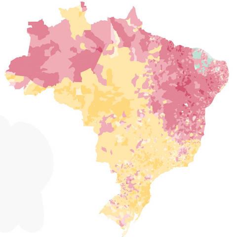 Mapa de apuração de todas as cidades do Brasil