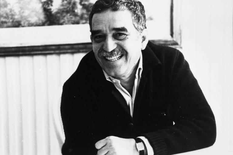 O escritor Gabriel García Márquez em 1982